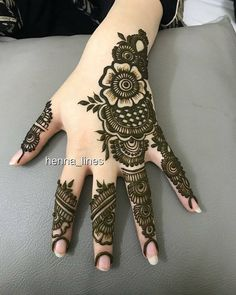 Collection of creative & unique mehndi-henna designs for girls Rose Mehndi Designs, Basic Mehndi Designs, Latest Henna Designs, Finger Henna Designs, Mehndi Designs For Beginners, Mehndi Designs For Girls, Wedding Mehndi Designs, Mehndi Designs For Fingers, Dulhan Mehndi Designs