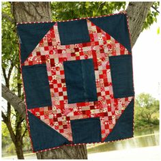 This may be the only way I ever get my  churn dash quilt made - one giant dash!!  Isn't this fun?! And so easy to do!