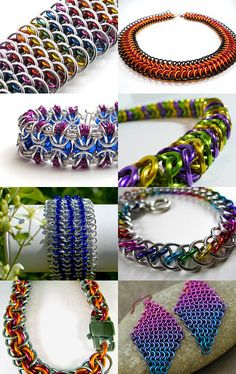 Colorful Chainmaille Treasury -- pinned via treasurypin.com
