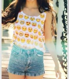 tank top shirt white emoji print emoji shirt emojis tank top pattern
