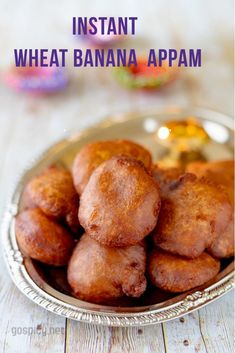 Sweet Godhumai Appam/Wheat Appam - made with wheat flour, jaggery, banana and few more ingredients. It can be made during karthigai deepam festival. Moreover this is a purely delicious snack you can have at anytime Banana Recipes Indian, Indian Dessert Recipes, Indian Snacks, Sweets Recipes, Baby Food Recipes, Snack Recipes, Cooking Recipes, Indian Recipes, Quick Snacks