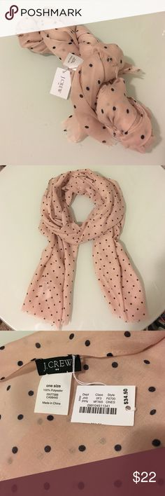"""J Crew Scarf Brand new with original tag. 100% Polyester. 70""""L X 25""""W. J. Crew Factory Accessories Scarves & Wraps"""