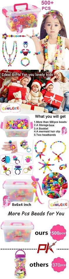 35c1f58ba Bead Kits 134567: Conleke Pop Snap Beads Set 500 Pcs For Kids Toddlers Creative  Diy Jewelry Toys - -> BUY IT NOW ONLY: $32.6 on #eBay #conleke #beads ...