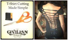 The Civilian Press Tattoo Art T-Shirts & Clothing Cut Shirt Designs, Model Outfits, T Shirt Diy, Cut Shirts, Shirt Outfit, Diy Tutorial, Diy Clothes, Diy Fashion, Make It Simple