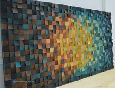 Large wood wall art - The Universe x 3 d wall art decor, Wood mosaic, Wood sculpture, Abstract painting on wood - Große Holz-Wand-Kunst das x 55 / 36 Large Wood Wall Art, 3d Wall Art, Wooden Wall Art, Wooden Walls, Art 3d, Wall Wood, Large Art, Diy Wand, Wood Sculpture