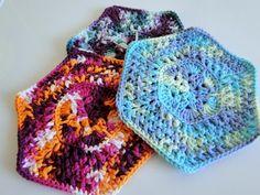 African Flower dishcloths - via @Craftsy