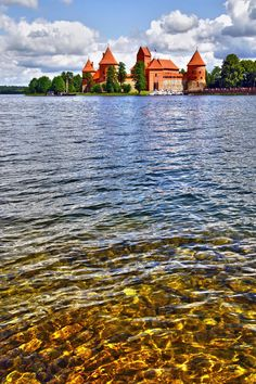 Trakai, Lake Galve, Lithuania Trakai Island Castle by CitizenFresh The Places Youll Go, Places To See, Lithuania Travel, Island, Holiday Destinations, Travel Destinations, Versailles, Villas, Places To Travel