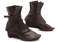 Trippen-Royal-Bootie $318.00. Made in Germany. Trippen's coolness factor is always sky high! We can't get enough of how their shoes seem simultaneously timeless and cutting-edge. The Royal Bootie, for instance, makes us think of Joan of Arc's battle gear but also of boots that rocker chicks like Joan Jett or Chrissie Hynde might wear.