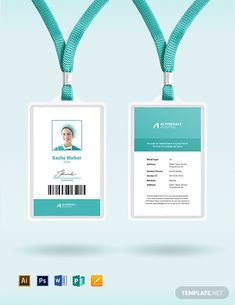 hospital staff id card template Name Tag Design, Id Card Design, Card Designs, Id Card Template, Card Templates, Identity Card Design, Employee Id Card, Business Card Design Inspiration, Hospital Design