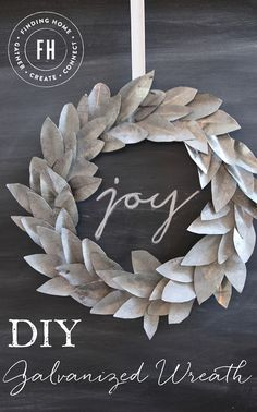 DIY Galvanized Wreath - A modern take on a Christmas wreath