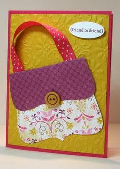 So simple - So cute! Stampin' Up! by Krystal's Cards and More: 2009 Gift Cards Money, Make Your Own Card, Bee Cards, Card Patterns, Handmade Birthday Cards, Card Making Inspiration, Kids Cards, Cool Cards, Scrapbook Cards