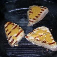 Grilled Tuna Steaks with Dill Sauce