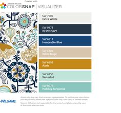 I found these colors with ColorSnap® Visualizer for iPhone by Sherwin-Williams…
