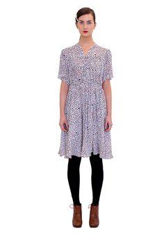 Lahja dress by Ivana Helsinki, Heart of Gold 2015 collection. Heart Of Gold, Helsinki, Heaven, Designers, Dots, Short Sleeve Dresses, Buttons, V Neck, Formal
