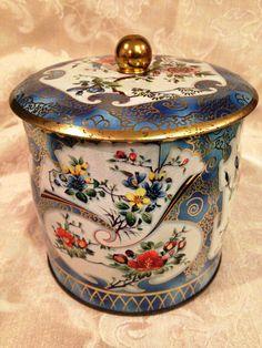 Vintage Daher Tin Asian Decorated Tin English Tin by DartmouthHill