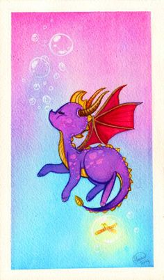 Okay, now I'll take a break from these Spyro fanart pics. I've satisfied my craving for pastel colours and magical places!