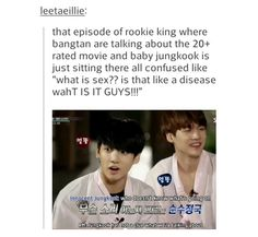I find it even worse that I knew what movie they were talking about and Jungkook didn't. What does that say about me?