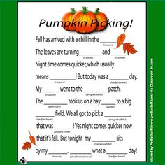 """Contributed via Instagram as part of our """"favefalltx"""" My Therapy Share photo campaign! - Mad Libs are great for speech and language! Check out three fall themed Mad Libs from Classroom Jr. via our Pinterest boards! http://goo.gl/ouZnmC  -  #slpeeps #schoolslp #speechtherapy #instaslp #Padgram"""