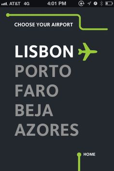 UI PAtterns. ANA Portuguese Airports / Travel 02
