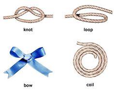 : [luːp] петля, [bəu] бант, [nɔt] узел, [kɔɪl] виток, кольцо