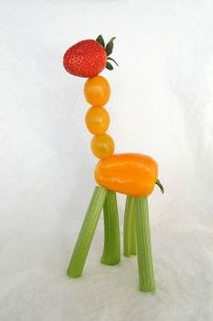 Who wouldn't want to eat their fruits and veggies gazing at these charming creatures?