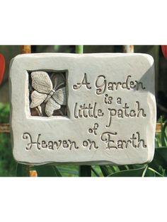 Heaven On Earth Plaque. Memorial PlaquesCast StoneGarden ...
