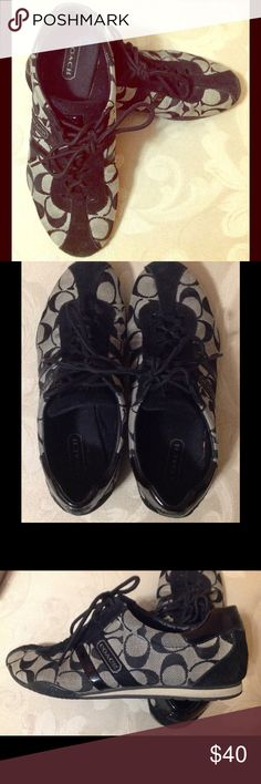 Coach fashion shoes Very clean Coach fashion shoes . I only used them a few times . No stains or rips I accept reasonable offers . Thank you for viewing Coach  Shoes Athletic Shoes