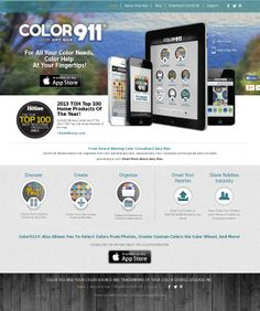 The website 'www.Color911.com' courtesy of @Pinstamatic (http://pinstamatic.com) #Color911 #app #color