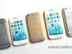 Learn how to decorate iPhone cookies with royal icing in this tutorial by SweetAmbs!