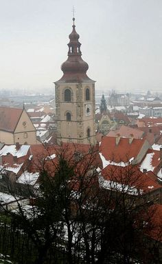 Winter in Ptuj town, Slovenia