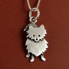 Kleine dwergkeeshond ketting. Pomeranian necklace.