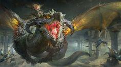 Big dragon by Ruan Jia