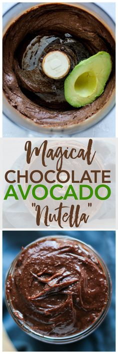 This healthy homemade Nutella recipe is better than the real thing! Healthy Vegan Desserts, Healthy Treats, Vegan Recipes, Paleo, Free Recipes, Homemade Nutella Recipes, Avocado Recipes, Food Blogs, Clean Eating Recipes