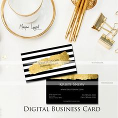 Printable Business Card  Calling Card  by MLPhotographicArtist