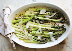 March means asparagus in now in season. Who knew? Recipe for roasted-asparagus.