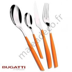Couverts  Bugatti Glamour Oranges