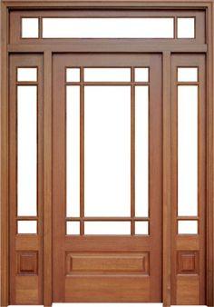Mahagoni Madison 9 Lite Single Door / & Rec Transom, Builder - Not Just For Barns - dekoration French Doors Patio, Patio Doors, Entry Doors, French Patio, Porch Columns, Entryway, Wood Front Doors, Wooden Doors, Brighten Room