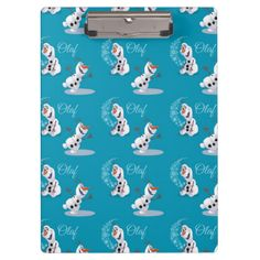 Olaf Snowflakes Clipboards