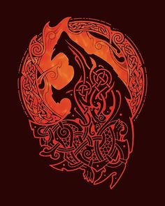 Norse Wolves: Friend of Gods or Terminator. Wolves are among the most complicated figures in any mythology as the course of the history goes. Norse wolves were among the most controversial and as mysterious as Loki the Trickster in Norse myth. Wolves in Fenrir Tattoo, Norse Tattoo, Celtic Tattoos, Viking Tattoos, Wolf Tattoos, Body Art Tattoos, Maori Tattoos, Warrior Tattoos, Arm Tattoo