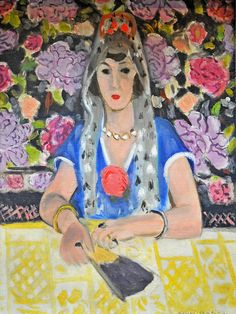 Espagnole- Harmonie en bleu (Spanish Woman- Harmony in Blue) by Henri Matisse (French 1869-1954)