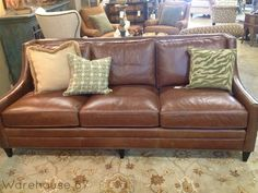 Marvelous Tiroli Leather Sofa here at Warehouse 67! Only $2699!  www.Warehouse67design.com