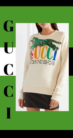 Multicolored cotton-terry Slips on cotton Hand wash Made in Italy Gucci Sweatshirt, Graphic Sweatshirt, Gucci Brand, Gucci Shoulder Bag, Printed Cotton, Mini Skirts, Sweatshirts, Womens Fashion, Sweaters