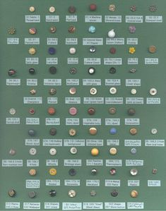 North Carolina State Button Society - 2001 - Div IX Sec Cl 140 - Diminutive - Assorted Materials - Place - Maggie Whitson Types Of Buttons, Diy Buttons, Vintage Buttons, Vintage Items, Vintage Sewing Notions, Vintage Sewing Machines, Sewing Spaces, Sewing Rooms, Button Art