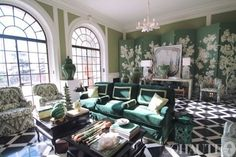 green and chic my room at Greystone Mansion!