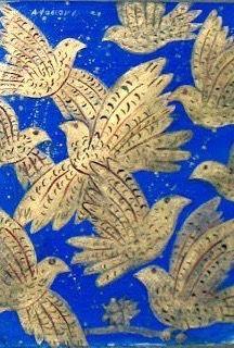Alekos Fasianos (Greek artist), doves on royal blue background Greek Art, Cool Pets, Bird Art, Artist Art, Bird Feathers, Textures Patterns, Blue Bird, Art Photography, Art Gallery