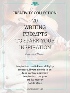Inspiration is a fickle and flighty creature, if you allow it to be. Take control and show inspiration that you are its master, not its slave, using these 20 writing prompts.   Writerology.net