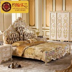 4198bab4a91f Bisini Bedroom Set New Classical Style Solid Wood Hand Carved Bed Luxury  Gold View bedroom furniture Bisini Product.