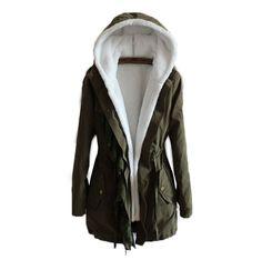 Ladies High Quality Warm Thicken Detachble Inner Fleece Coat