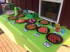 Minecraft Birthday Table