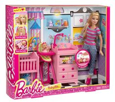 BARBIE BABYSITTER PLAYSET W/ LOADS OF ACCESSORIES DOLL & BABY INCLUDED *NEW* #BARBIE #PLAYSET